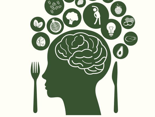 Vector Illustrator symbolizes of Foods for Healthy Brain