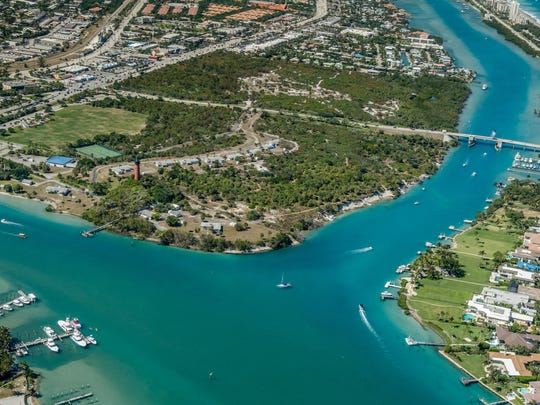 Aerial view of Jupiter Inlet