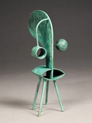Bronze sculpture by David Provan is on view at Cross
