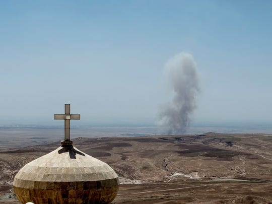 The monastery sits on one of Iraq's front lines.