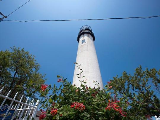 The Fenwick Island lighthouse is located on the Mason Dixon Line in Fenwick Island.