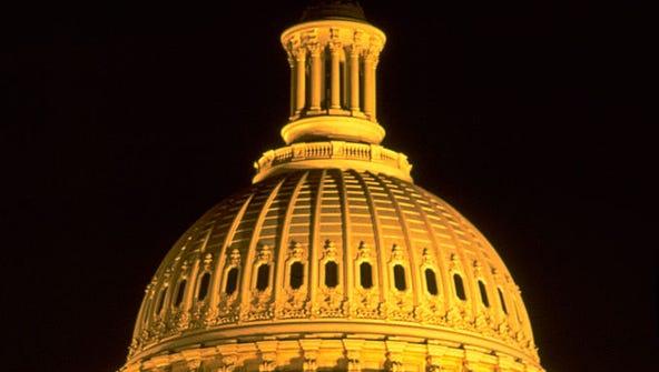 The U.S. Capitol dome.