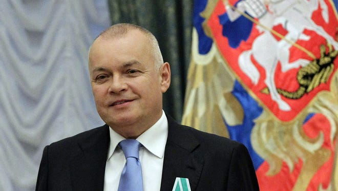 Russian television journalist Dmitry Kiselyov in 2011.