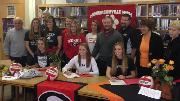 Hendersonville seniors Micayla Bedoian, Sydney Gilliam and Cassie Born have signed to play college volleyball.