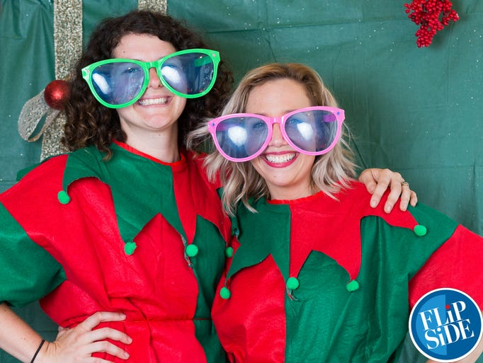 Photobooth portraits bring Christmas to July at the