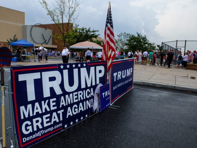 Donald Trump rally at Cumberland Valley High School,