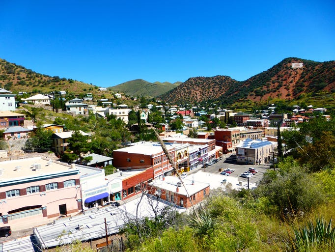Bisbee, known for a vibrant arts scene and a picturesque