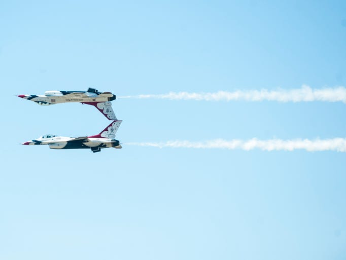 The Thunderbirds fly during the Great Falls Air Show