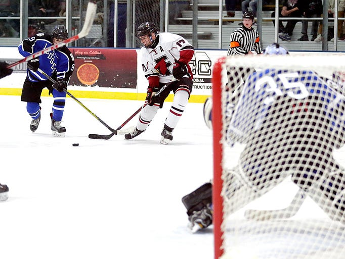 St. Mary's Springs Academy boys hockey take on Fond
