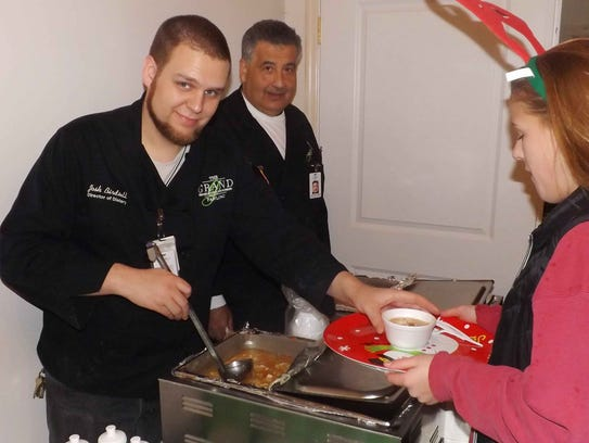 Josh Birdsell, left, director of Food Services at The