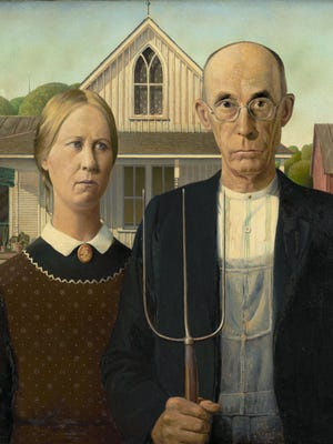 "Grant Wood's iconic and rarely traveled ""American Gothic"" is at the Cincinnati Art Museum starting Saturday."