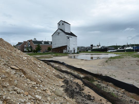 A hotel complex is proposed on the Sturgeon Bay west waterfront next to the Door County Maritime Museum in Sturgeon Bay. One of the dirt piles is at the forefront of the photo.