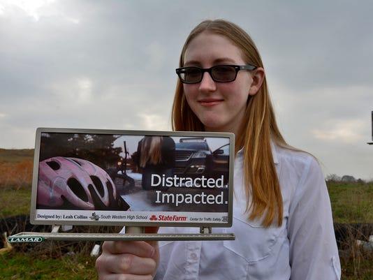 South Western student creates winning billboard design