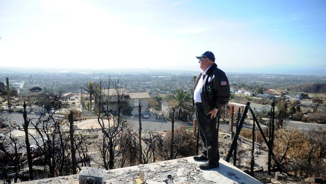 Carl Zaid, of Ventura, lost his Crestone Court home in the Thomas Fire. He had lived there since 1978 because he loves the view of the Channel Islands. Zaid says he has learned his insurance coverage won't nearly cover the cost to rebuild.