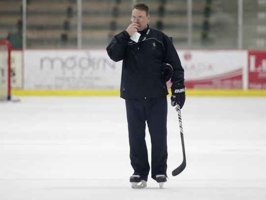 St. Norbert College men's hockey coach Tim Coghlin has the Green Knights on a 14-game winning streak entering an NCAA quarterfinal against UW-Stevens Point.