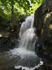 The falls at Buttermilk Falls County Park in West Nyack.
