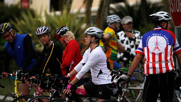 Group rides offer different distances, allowing riders