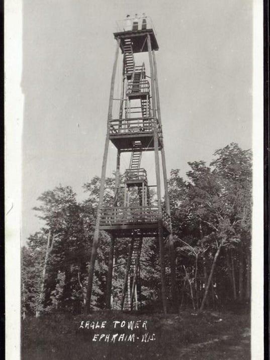 dcn 1004 dchs postcard eagle tower