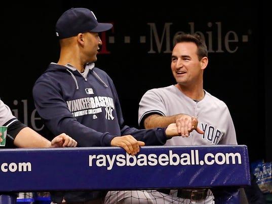 Yankees Dean Anna Derek Jeter April 2014