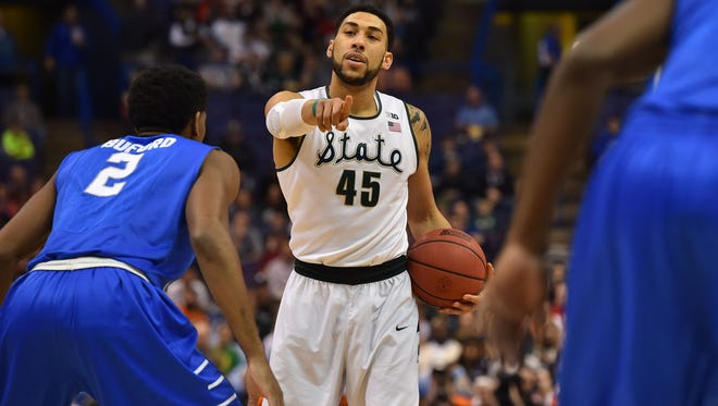 A year later, Former MSU star Denzel Valentine still thinks regularly about the Spartans' first-round NCAA tournament loss to Middle Tennessee State.