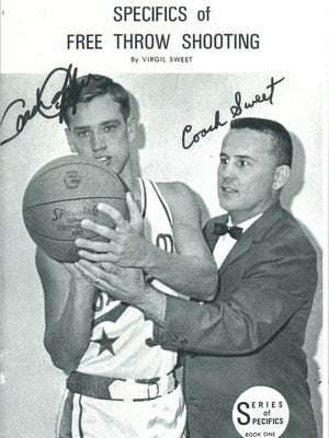 The cover of former high school basketball coach Virgil Sweet's treatise on shooting free throws.