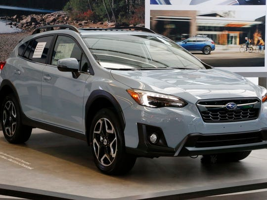 FILE- This Feb. 15, 2018, file photo shows a 2018 Subaru