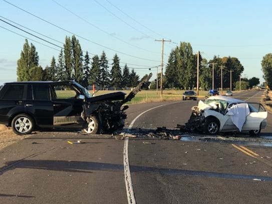 Fatal crash on Highway 99E and Nevada Street.