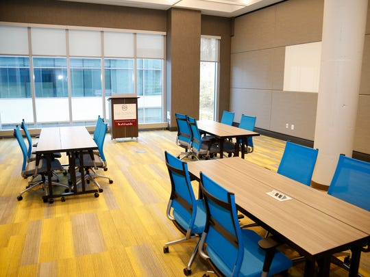 One of the smaller conference rooms at the new Summit Hotel in the Madisonville neighborhood of Cincinnati on Wednesday, April 18, 2018.