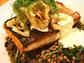 A fall dish at Teak in Red Bank is pan-seared salmon