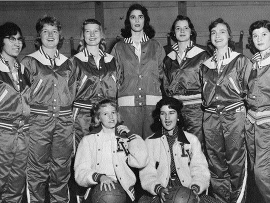 The 1958 Lake View girls basketball team won a district