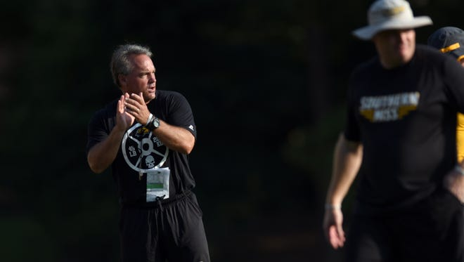 Southern Miss football coach Jay Hopson liked what he saw from his defense in Saturday's intrasquad scrimmage.