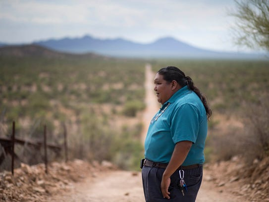 Verlon Jose says a border wall on Tohono O'odham land