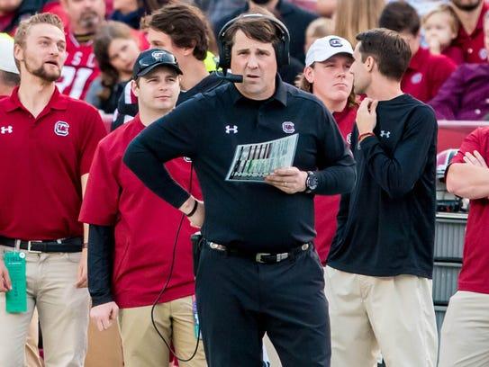 South Carolina football coach Will Muschamp and the