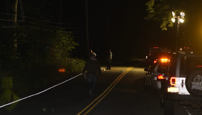 A Huntington, Long Island, man was killed and a Dix Hills, Long Island woman critically injured Sunday after their car went 20 feet down an embankment on Willow Grove Road, Haverstraw