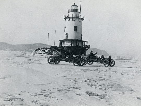 The Tarrytown  lighthouse pictured during the winter