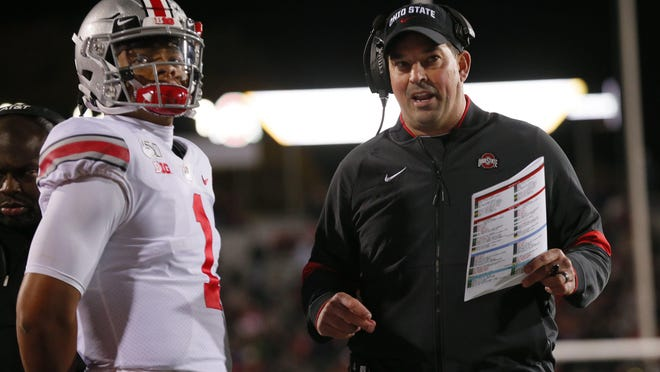 """With rumors swirling that the 2020 Big Ten football season would be canceled, Ohio State coach Ryan Day on Monday retweeted a message from his quarterback Justin Fields: """"We want to play."""""""