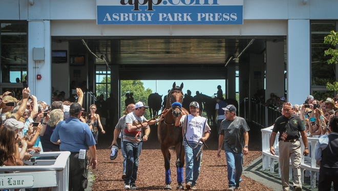 The appearance of Triple Crown winner American Pharoah at the Haskell at Monmouth Park was voted the top story at the Jersey Shore in 2015.