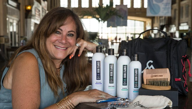 Robyn Cohen sells Simple Man men's grooming products.