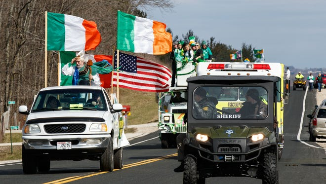 The 38th annual St. Patrick's Day parade will kick off at 11 a.m. Saturday, March 17.