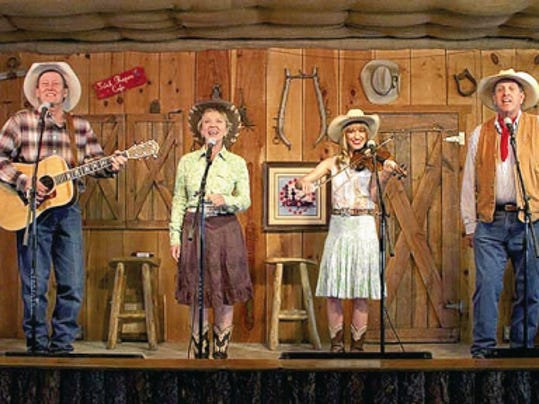 The Flying J Wranglers at the Flying J Ranch in Alto offer an entertaining evening of Western music and family fun.
