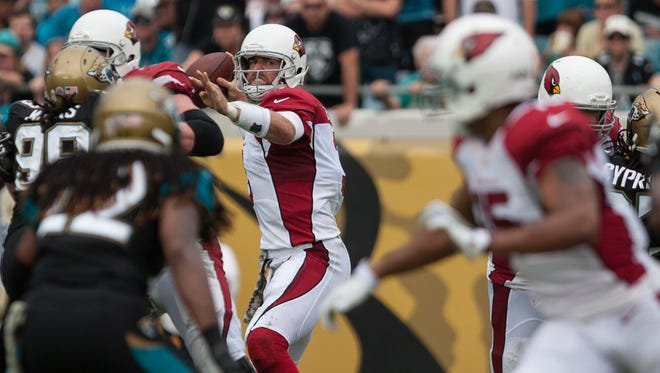 Cardinals QB Carson Palmer picked the Jaguars apart from the pocket.
