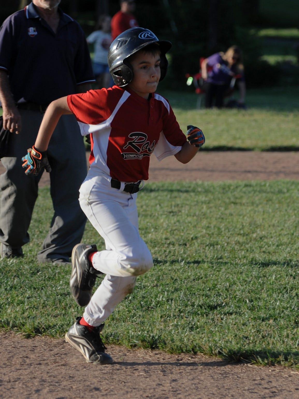 Aiden Fogle runs to third base during a game Tuesday,