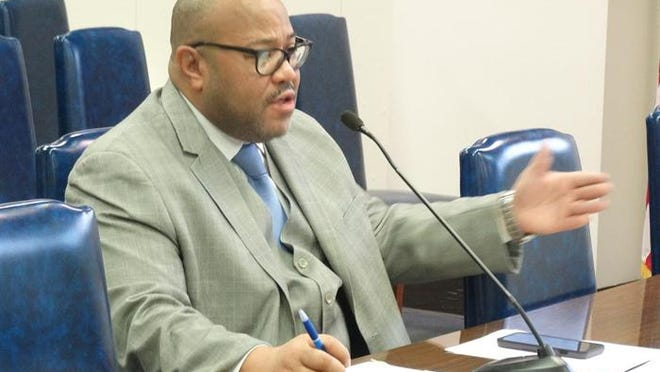 Rep. André Thapedi, D-Chicago, pictured at a committee hearing in Springfield in 2019, said last week the House civil judiciary committee he chairs will open an investigation into the more than 30 deaths at the LaSalle Veterans' Home that have been caused by COVID-19.