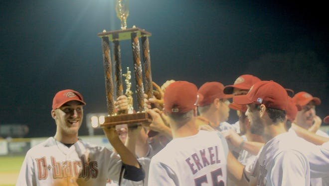 Stuarts Draft claimed their third straight RCBL championship on Monday, beating Clover Hill 3-0 behind a strong pitching outing from Jeremy Fitzgerald.
