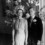 The Duchess and Duke of Windsor, after their wedding at the Chateau de Cande near Tours, France, on June 3, 1937. King Edward VIII hoped to tell Britons of his love for American divorcee Wallis Simpson and persuade them he should marry her and still keep his throne, records unsealed in 2003 showed. After his abdication, Edward and his new wife became the Duke and Duchess of Windsor.