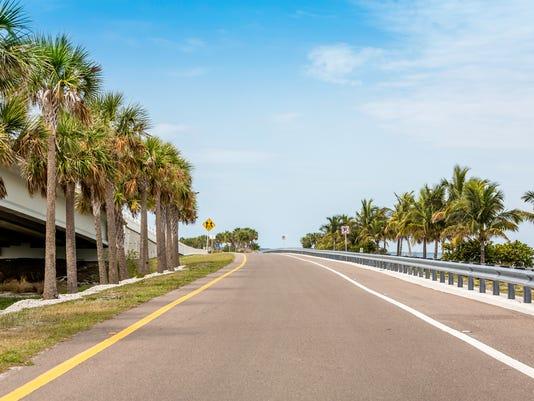 Road by the ocean