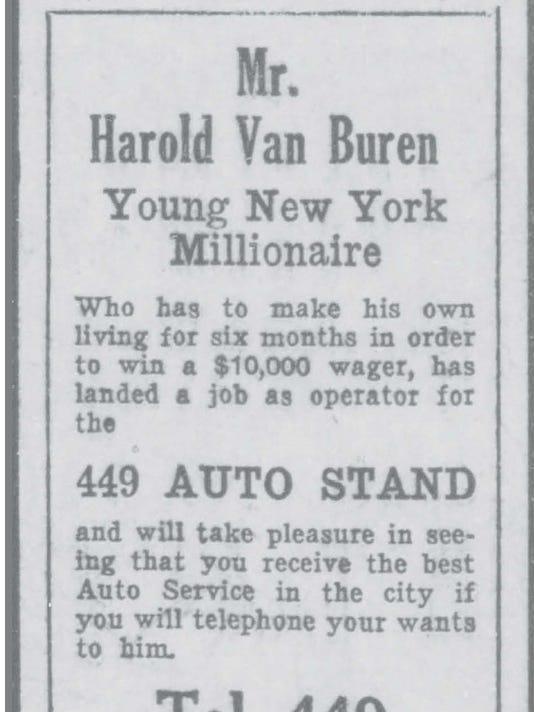 HAROLD VAN BUREN AD