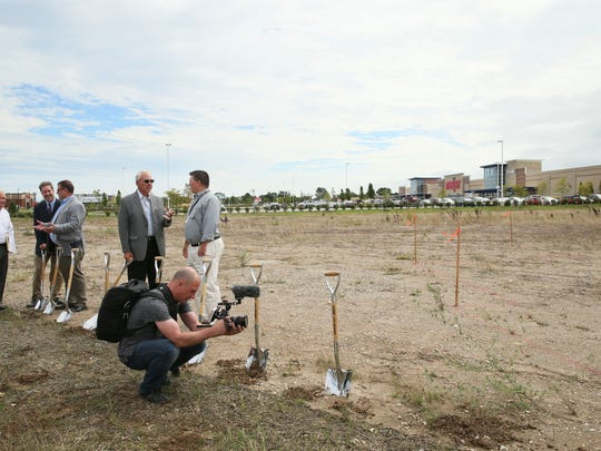 A groundbreaking ceremony was held to celebrate the start of construction for Drexel Town Square's latest project, a TownPlace Suites by Marriott hotel in Oak Creek.