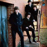 The Return, from left going up the stairs, are Richard Stelling (as John Lennon) Michael Fulop (George Harrison), Adam Thurston (Ringo Starr) and Shane Landers (Paul McCartney).