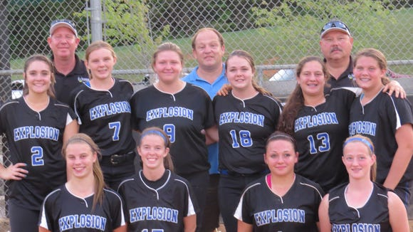 The Blue Ridge Explosion softball team.